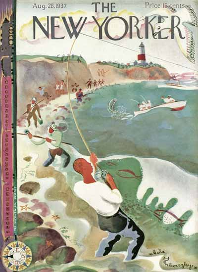 Bela Dankovszky The New Yorker 1937_08_28 Copyright | The New Yorker Graphic Art Covers 1925-1945