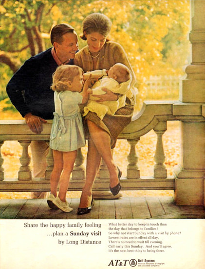 Bell Telephone System ATT The Baby 1966 | Vintage Ad and Cover Art 1891-1970