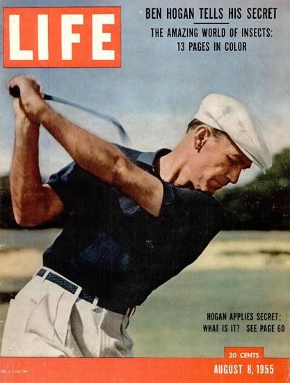 Ben Hogan tells his Secret 8 Aug 1955 Copyright Life Magazine | Life Magazine Color Photo Covers 1937-1970