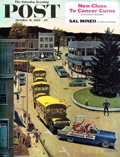 Ben Kimberly Prins Saturday Evening Post Glenville High 1959_10_31 | The Saturday Evening Post Graphic Art Covers 1931-1969