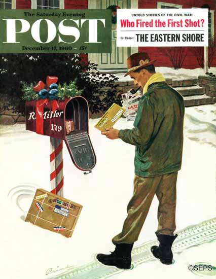 Ben Kimberly Prins Saturday Evening Post Merry Christmas IRS 1960_12_17 | The Saturday Evening Post Graphic Art Covers 1931-1969