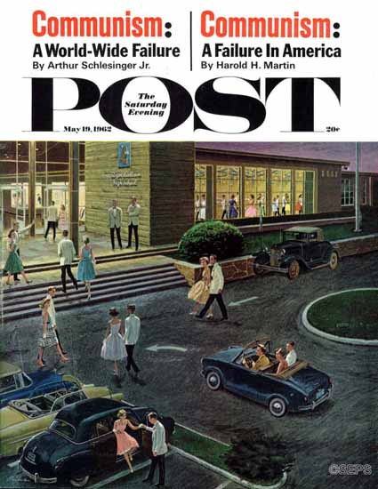 Ben Kimberly Prins Saturday Evening Post Prom Dates Parking 1962_05_19 | The Saturday Evening Post Graphic Art Covers 1931-1969