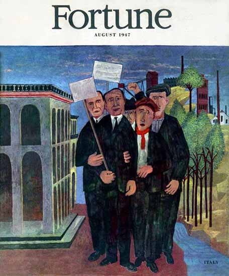 Ben Shahn Fortune Magazine August 1947 Copyright | Fortune Magazine Graphic Art Covers 1930-1959