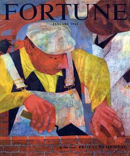 Ben Shahn Fortune Magazine January 1951 Copyright | Fortune Magazine Graphic Art Covers 1930-1959