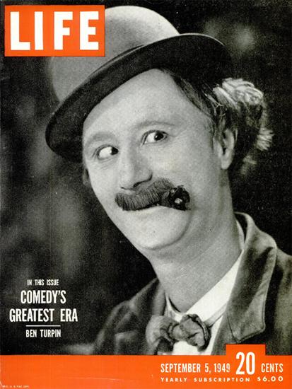 Ben Turpin Comedy 5 Sep 1949 Copyright Life Magazine | Life Magazine BW Photo Covers 1936-1970