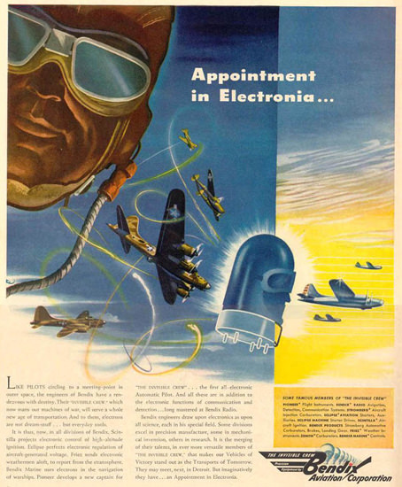 Bendix Appointment In Electronia 1943 | Vintage War Propaganda Posters 1891-1970