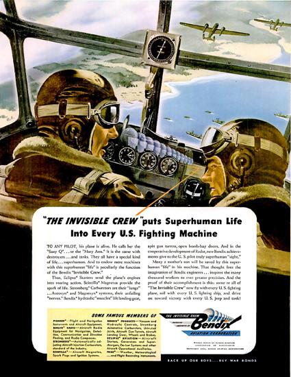 Bendix Corporation The Invisible Crew | Vintage War Propaganda Posters 1891-1970