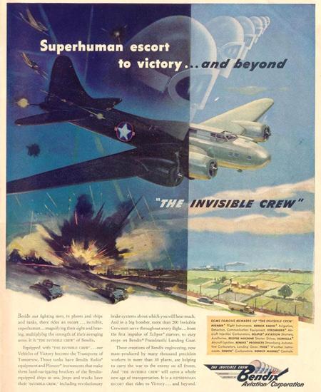 Bendix The Invisible Crew 1943 | Vintage War Propaganda Posters 1891-1970