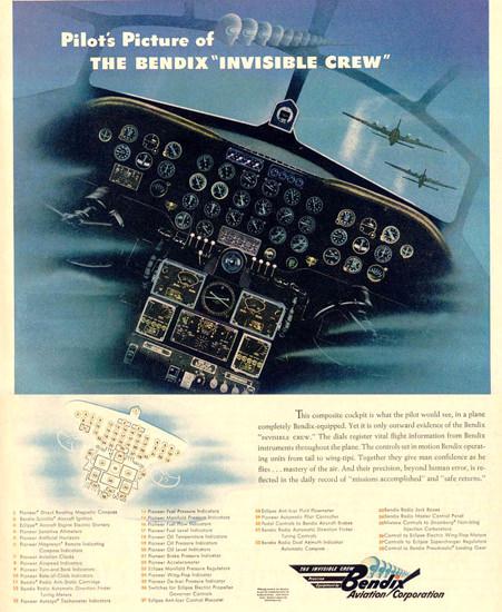 Bendix The Invisible Crew 1944 | Vintage War Propaganda Posters 1891-1970