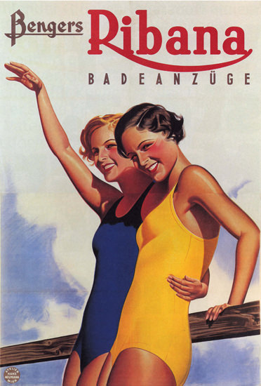 Bengers Ribana Badeanzuege Austria Swim Suits | Sex Appeal Vintage Ads and Covers 1891-1970