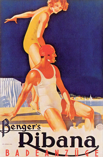Bengers Ribana Badeanzuege Swim Suits 1932   Sex Appeal Vintage Ads and Covers 1891-1970