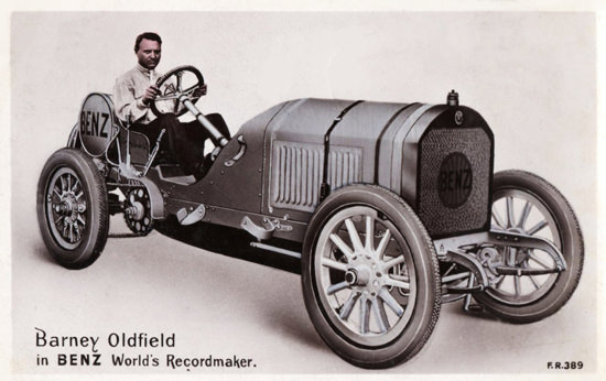 Benz Race Car 1910 World Record B Oldfield   Vintage Cars 1891-1970