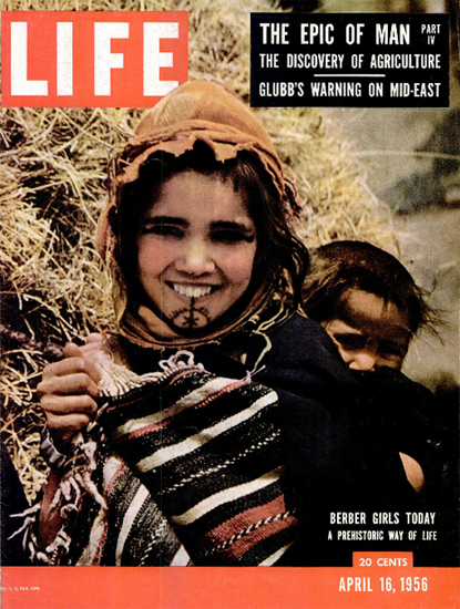 Berber Girls today 16 Apr 1956 Copyright Life Magazine | Life Magazine Color Photo Covers 1937-1970