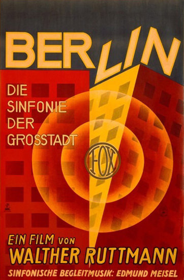 Berlin Symphonie Der Grosstadt Fox Film | Vintage Ad and Cover Art 1891-1970