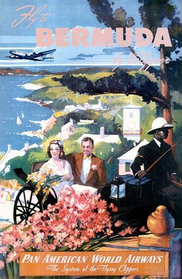 Bermuda By Clipper Pan American World Airways | Vintage Travel Posters 1891-1970