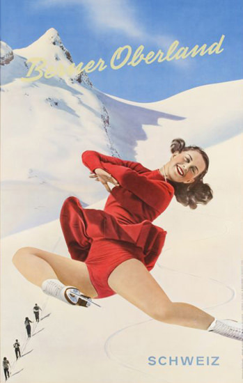 Berner Oberland Schweiz Barbara Anscott 1950 | Sex Appeal Vintage Ads and Covers 1891-1970