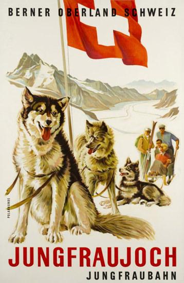 Berner Oberland Schweiz Jungfraujoch 1936 | Vintage Travel Posters 1891-1970