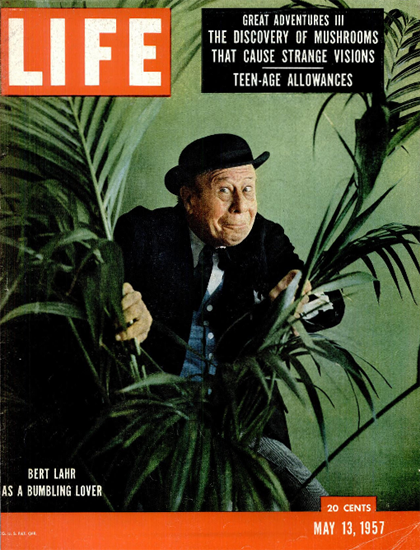 Bert Lahr as a Bumbling lover 13 May 1957 Copyright Life Magazine | Life Magazine Color Photo Covers 1937-1970