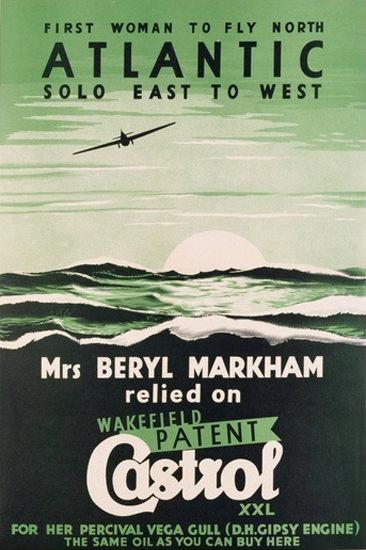 Beryl Markham First Woman Atlantic Flight 1938 | Vintage Ad and Cover Art 1891-1970