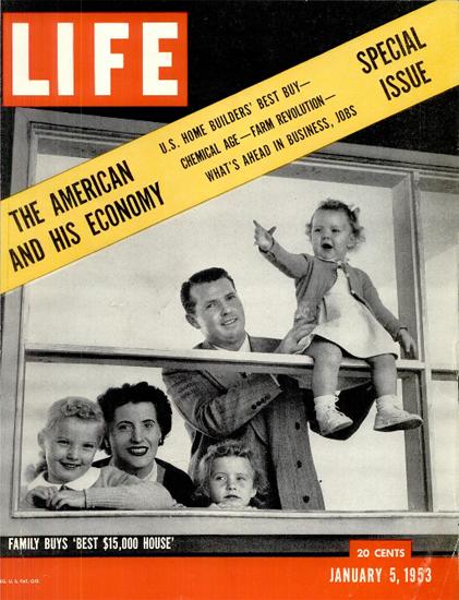 Best 15000 Dollar House 5 Jan 1953 Copyright Life Magazine   Life Magazine BW Photo Covers 1936-1970
