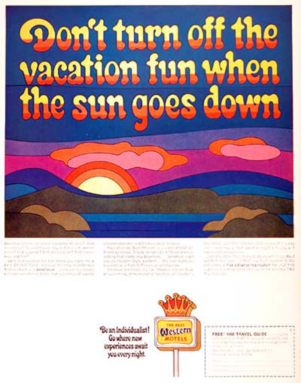 Best Western Motels 1968 Vacation Fun | Vintage Ad and Cover Art 1891-1970