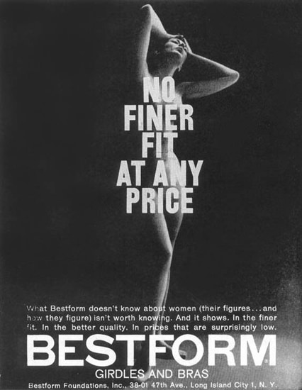 Bestform Girdles And Bras No Finer Fit 1957 | Sex Appeal Vintage Ads and Covers 1891-1970