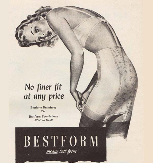 Bestform Lingerie Means Best Form No Finer Fit | Sex Appeal Vintage Ads and Covers 1891-1970