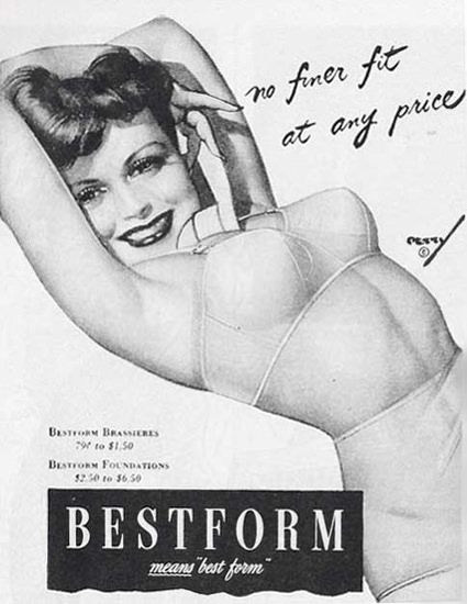 Bestform Lingerie Means Best Form | Sex Appeal Vintage Ads and Covers 1891-1970