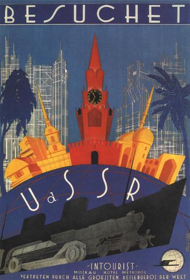 Besuchet UdSSR 1930 Visit The USSR Russia | Vintage Travel Posters 1891-1970