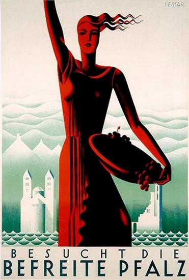 Besucht Die Befreite Pfalz Sepp Semar 1930   Sex Appeal Vintage Ads and Covers 1891-1970