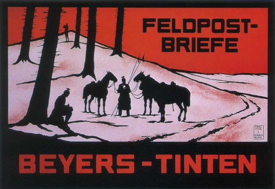 Beyers-Tinten Feldpost-Briefe Ink Army Postal | Vintage War Propaganda Posters 1891-1970