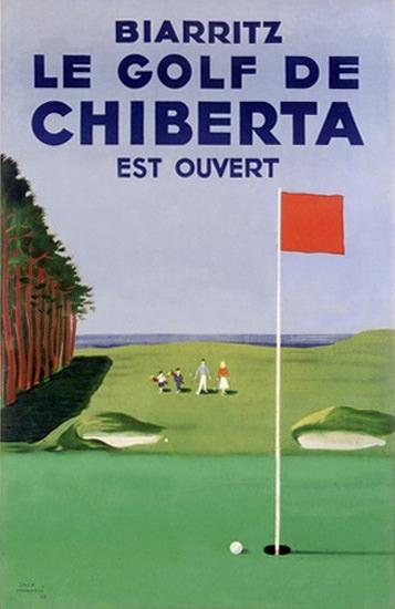 Biarritz Golf De Chiberta | Vintage Travel Posters 1891-1970