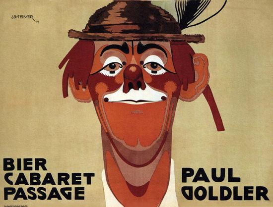 Bier Cabaret Passage Paul Goldler 1914 Germany | Vintage Ad and Cover Art 1891-1970