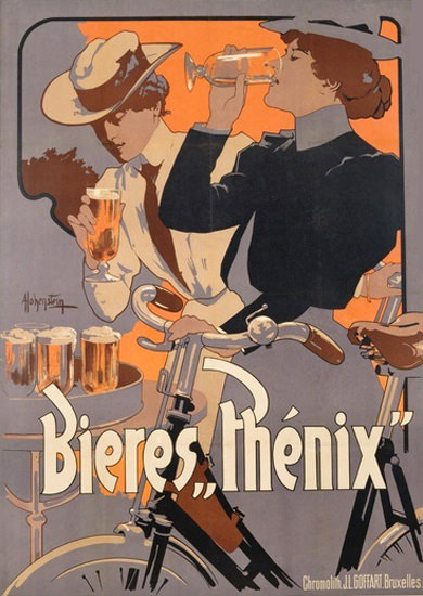 Bieres Phenix Bruxelles 1899 Beer | Sex Appeal Vintage Ads and Covers 1891-1970