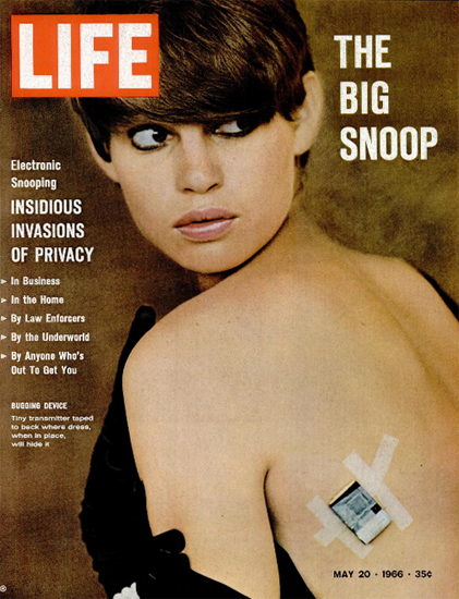 Big Snoop Bugging Device 20 May 1966 Copyright Life Magazine | Life Magazine Color Photo Covers 1937-1970