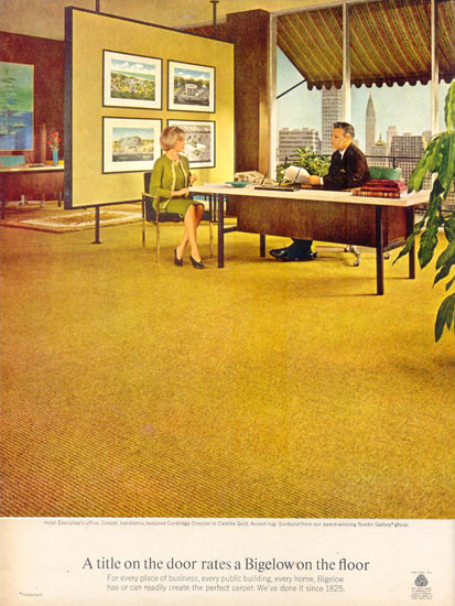 Bigelow Floor 1966 | Vintage Ad and Cover Art 1891-1970