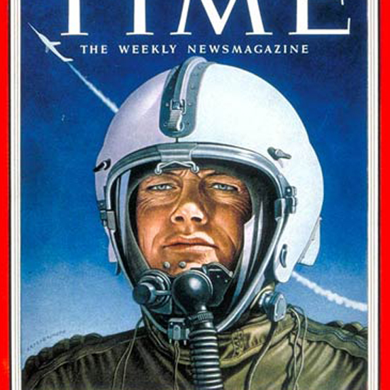 Bill Bridgeman Time Magazine 1953-04 by Boris Artzybasheff crop | Best of Vintage Cover Art 1900-1970