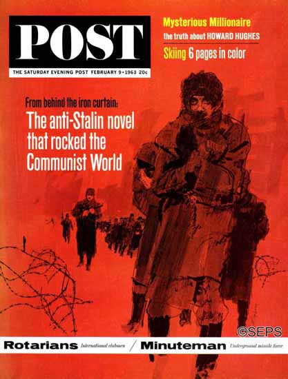Bill Whittingham Saturday Evening Post Behind Iron Curtain 1963_02_09 | The Saturday Evening Post Graphic Art Covers 1931-1969