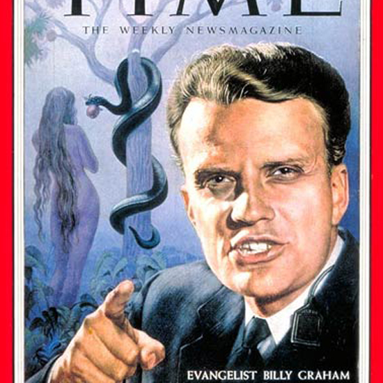 Billy Graham Time Magazine 1954-10 by Boris Chaliapin crop   Best of Vintage Cover Art 1900-1970