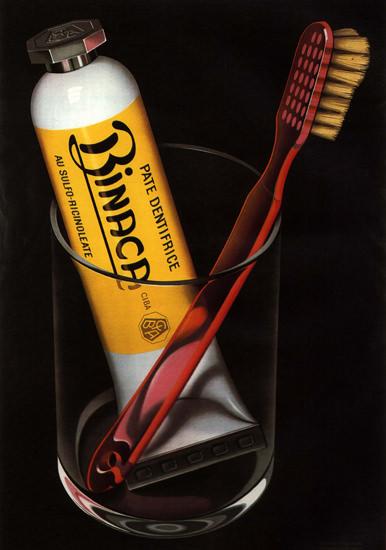 Binaca Pate Dentifrice Switzerland Schweiz Suisse   Vintage Ad and Cover Art 1891-1970