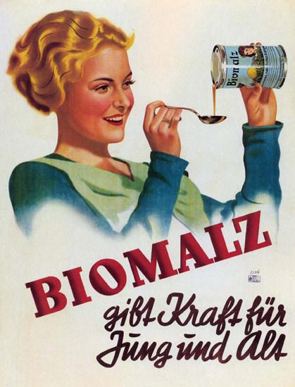 Biomalz Gibt Kraft für Jung Und Alt Austria   Sex Appeal Vintage Ads and Covers 1891-1970
