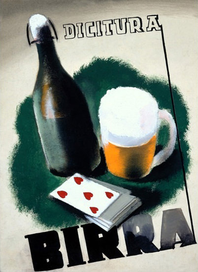 Birra Dicitura Deck Of Cards | Vintage Ad and Cover Art 1891-1970