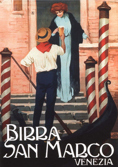 Birra San Marco Venezia Italy Italia Beer | Sex Appeal Vintage Ads and Covers 1891-1970