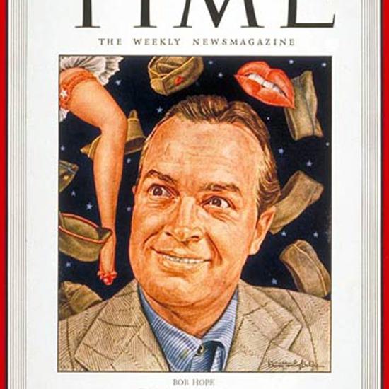 Bob Hope Time Magazine 1943-09 by Ernest Hamlin Baker crop   Best of Vintage Cover Art 1900-1970