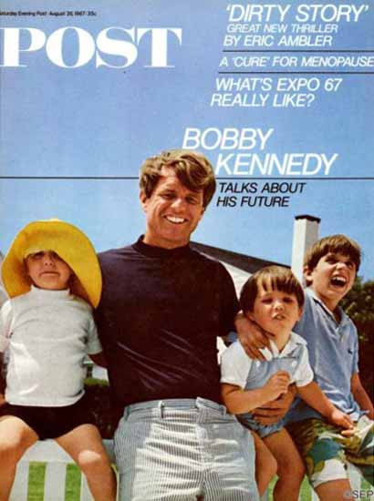 Bobby Kennedy and Kids Saturday Evening Post 1967_08_26 | Vintage Ad and Cover Art 1891-1970