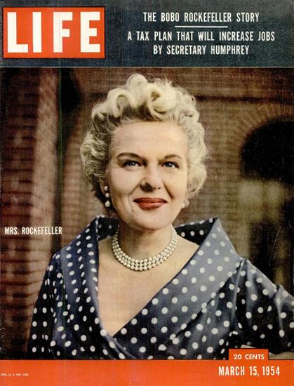 Bobo Rockefeller Barbara Sears 15 Mar 1954 Copyright Life Magazine | Life Magazine Color Photo Covers 1937-1970