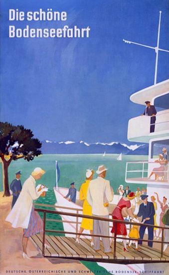 Bodensee Schiffahrt Die Schoene Bodenseefahrt | Vintage Travel Posters 1891-1970