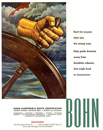 Bohn Aluminum Co Communism | Vintage War Propaganda Posters 1891-1970