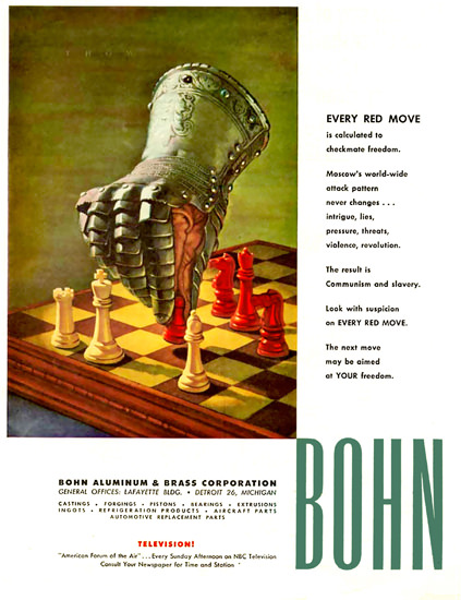 Bohn Aluminum Co Every Red Move | Vintage War Propaganda Posters 1891-1970
