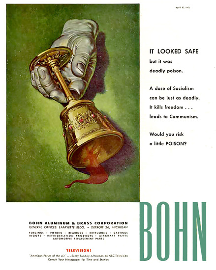 Bohn Aluminum Co Poison | Vintage War Propaganda Posters 1891-1970